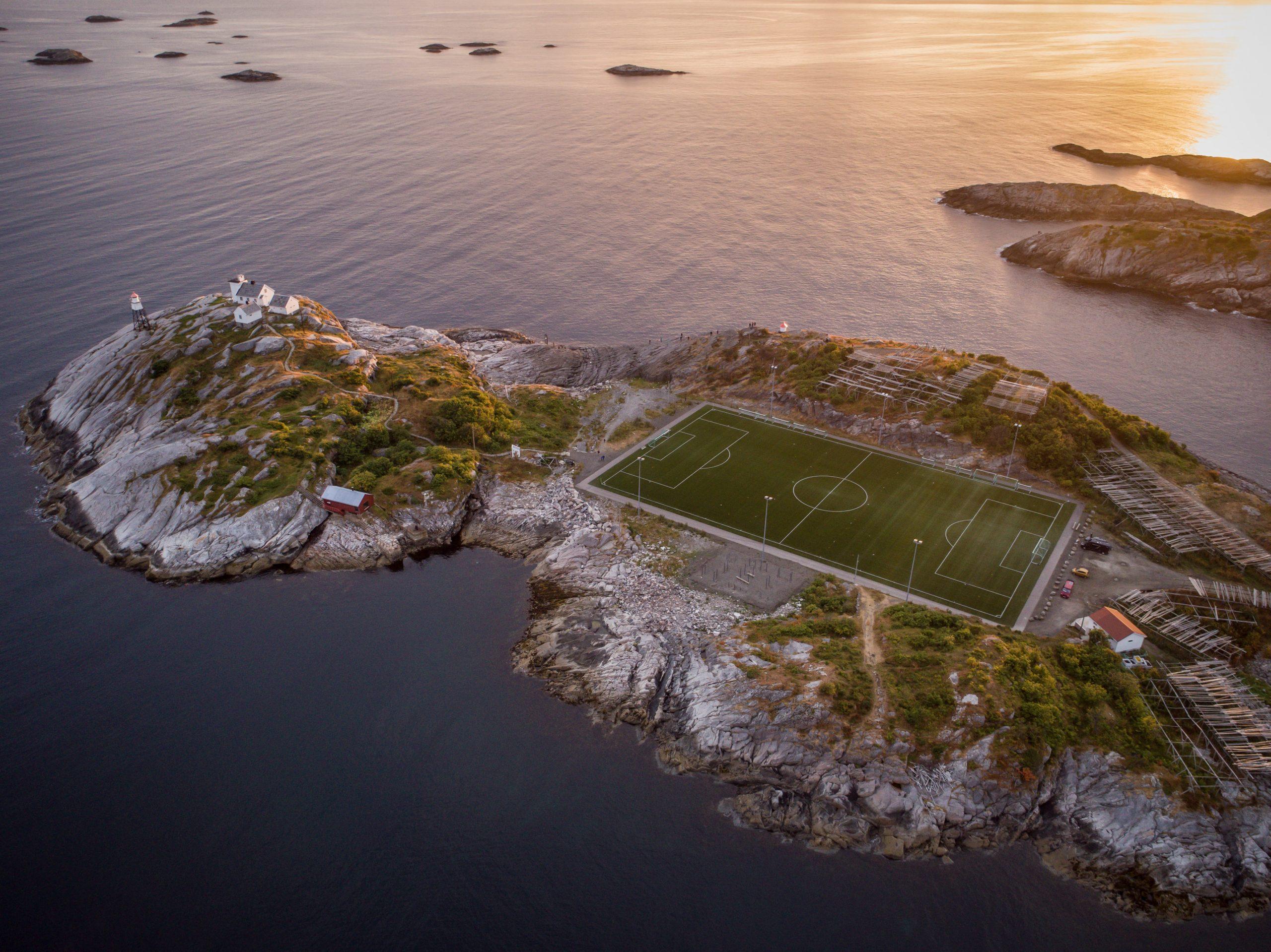 football field on island
